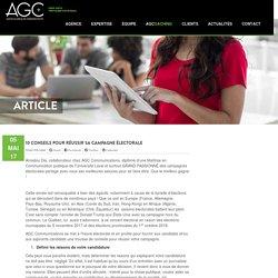 10 conseils pour réussir sa campagne électorale – AGC