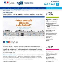 Les conseils citoyens et les centres sociaux en action !
