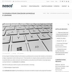 10 Conseils pour concevoir un module e-learning - Nosco Elearning