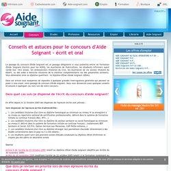 Conseils et astuces pour le concours d'Aide Soignant - écrit et oral - Concours