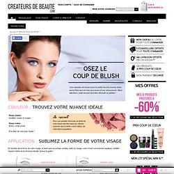 Conseils blush - CREATEURS DE BEAUTE