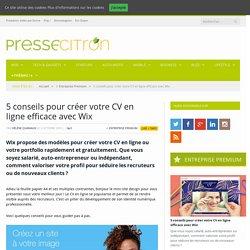 5 conseils pour créer votre CV en ligne efficace avec Wix
