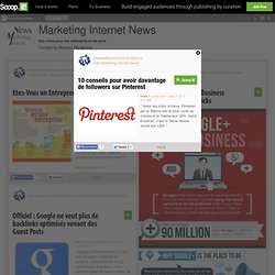 10 conseils pour avoir davantage de followers sur Pinterest | Marketing Internet News