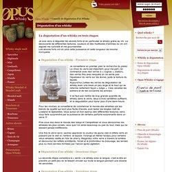 Conseils dégustation d'un whisky - Opus Whisky