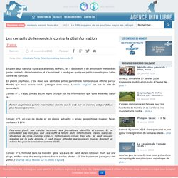 Les conseils de lemonde.fr contre la désinformation
