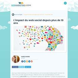 ▷ L'impact du web social depuis plus de 10 ans