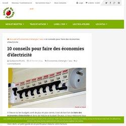 10 conseils pour faire des économies d'électricité