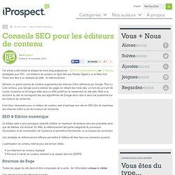 Conseils SEO pour les éditeurs de contenu