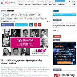 10 conseils d'engagement à partager sur les réseaux sociaux