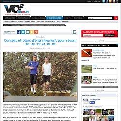Conseils et plans d'entraînement pour réussir 3h, 3h 15' et 3h 30' - Entraînement - Conseil course à pied - VO2 Run in live
