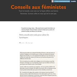 Conseils aux féministes