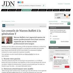 Les conseils de Warren Buffett à la génération Y