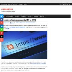 Les conseils de Google pour passer du HTTP au HTTPS