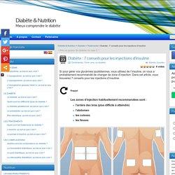 Diabète : 7 conseils pour les injections d'insuline - Diabète & Nutrition