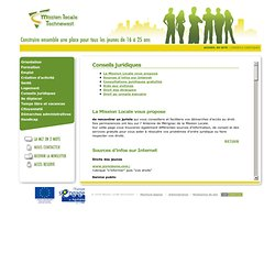 Conseils juridiques - Mission Locale technowest
