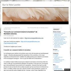 """""""Conseils sur comment induire la lactation"""" de StarGate Libraries"""