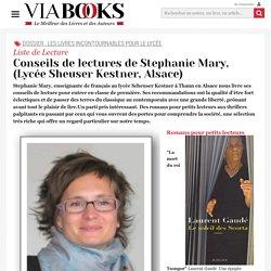 Conseils de lectures de Stephanie Mary, (Lycée Sheuser Kestner, Alsace)