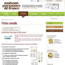 Fiches conseils - Maisons Paysannes de France