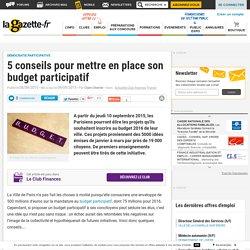 5 conseils pour mettre en place son budget participatif