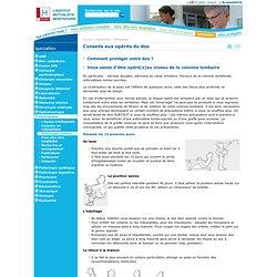 Conseils aux opérés du dos› Institut Mutualiste Montsouris