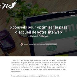 6 conseils pour optimiser la page d'accueil de votre site web