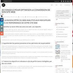 30 conseils pour optimiser la conversion de son site web