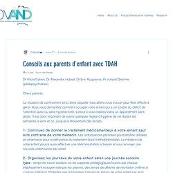 Conseils aux parents d'enfant avec TDAH