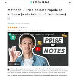 9 Conseils pour une Prise de Note Efficace - Les Sherpas