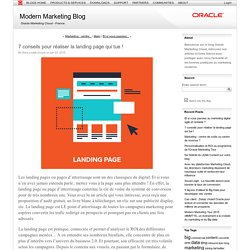 7 conseils pour réaliser la landing page qui tue ! (Modern Marketing Blog)