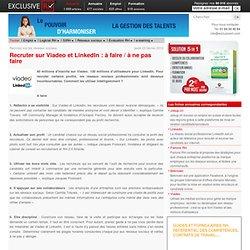 Conseils pour recruter sur Viadeo et LinkedIn