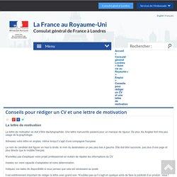 Conseils pour rédiger un CV et une lettre de motivation - France in the United Kingdom - La France au Royaume-Uni