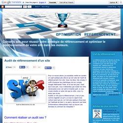 Audit de référencement d'un site