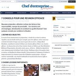 7 CONSEILS POUR UNE REUNION EFFICACE - le guide - GESTION