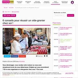 6 Conseils Pour Réussir Un Vide-grenier Chez Soi ! - Immonot.com