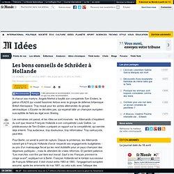 Les bons conseils de Schröder à Hollande