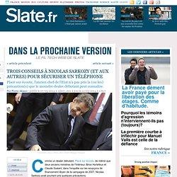 Trois conseils à Nicolas Sarkozy (et aux autres) pour sécuriser un téléphone
