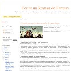 10 conseils pour survivre dans un combat de roman fantasy