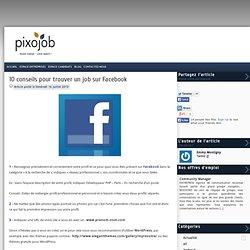 10 conseils pour trouver un job sur Facebook