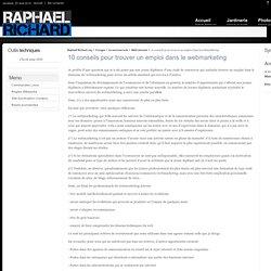 10 conseils pour trouver un emploi dans le webmarketing