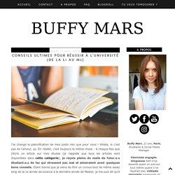 Buffy Mars: Conseils ultimes pour réussir à l'université (de la L1 au M2)