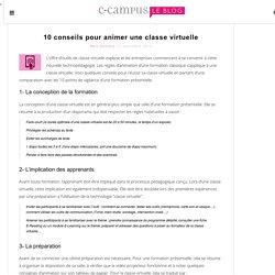 Best of 2013 : 10 conseils pour animer une classe virtuelle