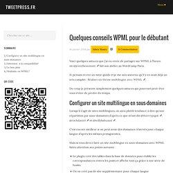 Conseils WPML pour le débutant