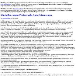 Auto entreprise photographe pearltrees for Statut auteur photographe