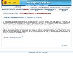 Portal de empleo de la Consejería del Ministerio de Empleo y Seguridad Social en Alemania. Centros y asociaciones de españoles en Alemania