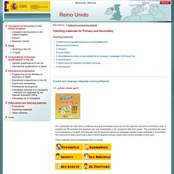 Consejerias Exteriores : Teaching materials for Primary and Secondary