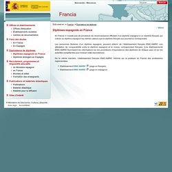 Consejerias Exteriores : Diplômes espagnols en France