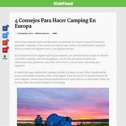 4 consejos para hacer camping en Europa