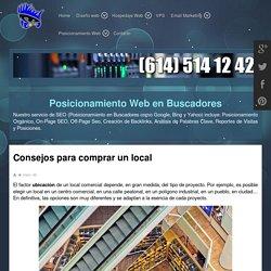 Consejos para comprar un local - DISEÑO WEB