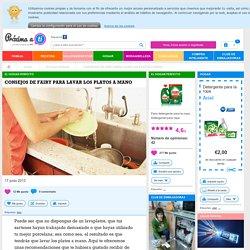 Consejos de Fairy para lavar los platos a mano