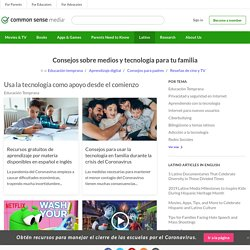 Consejos sobre medios y tecnología para tu familia